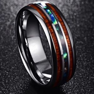 NWOT Tungsten carbide stainless steel ring
